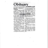 Obituary for Dorothy Williams